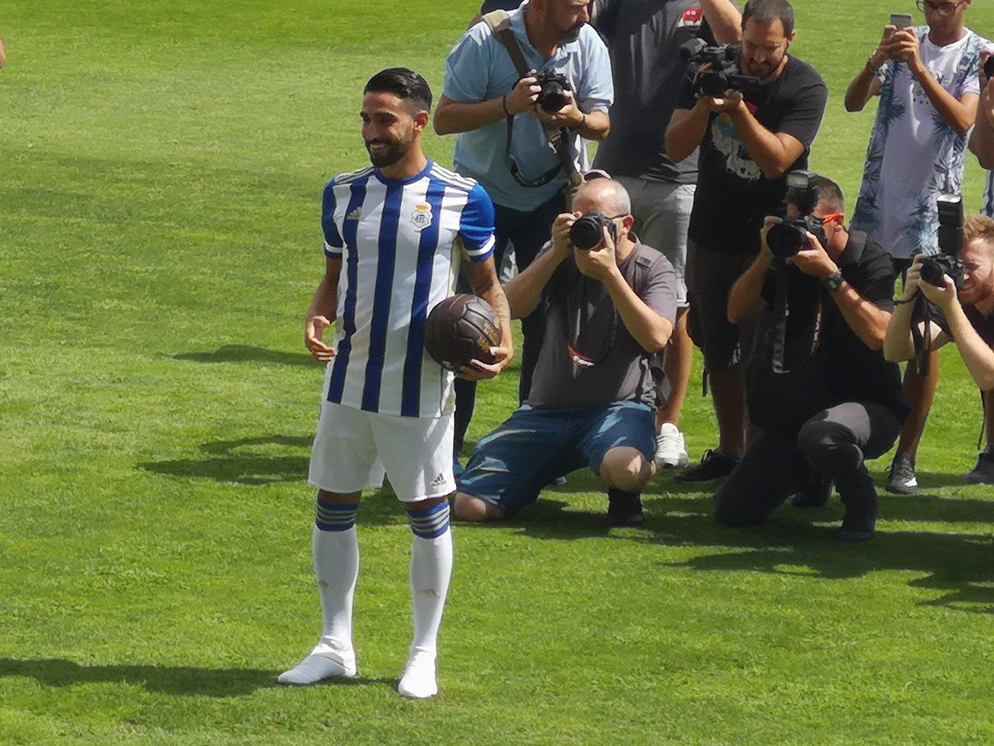 Presentacion del Nuevo Jugador del Recreativo de Huelva, Chuli Vázquez