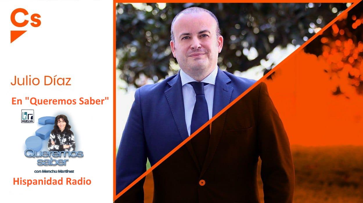 Queremos Saber 16-11-2020 Julio Díaz, Parlamentario Onubense por Ciudadanos y Vicepresidente del Parlamento Andaluz