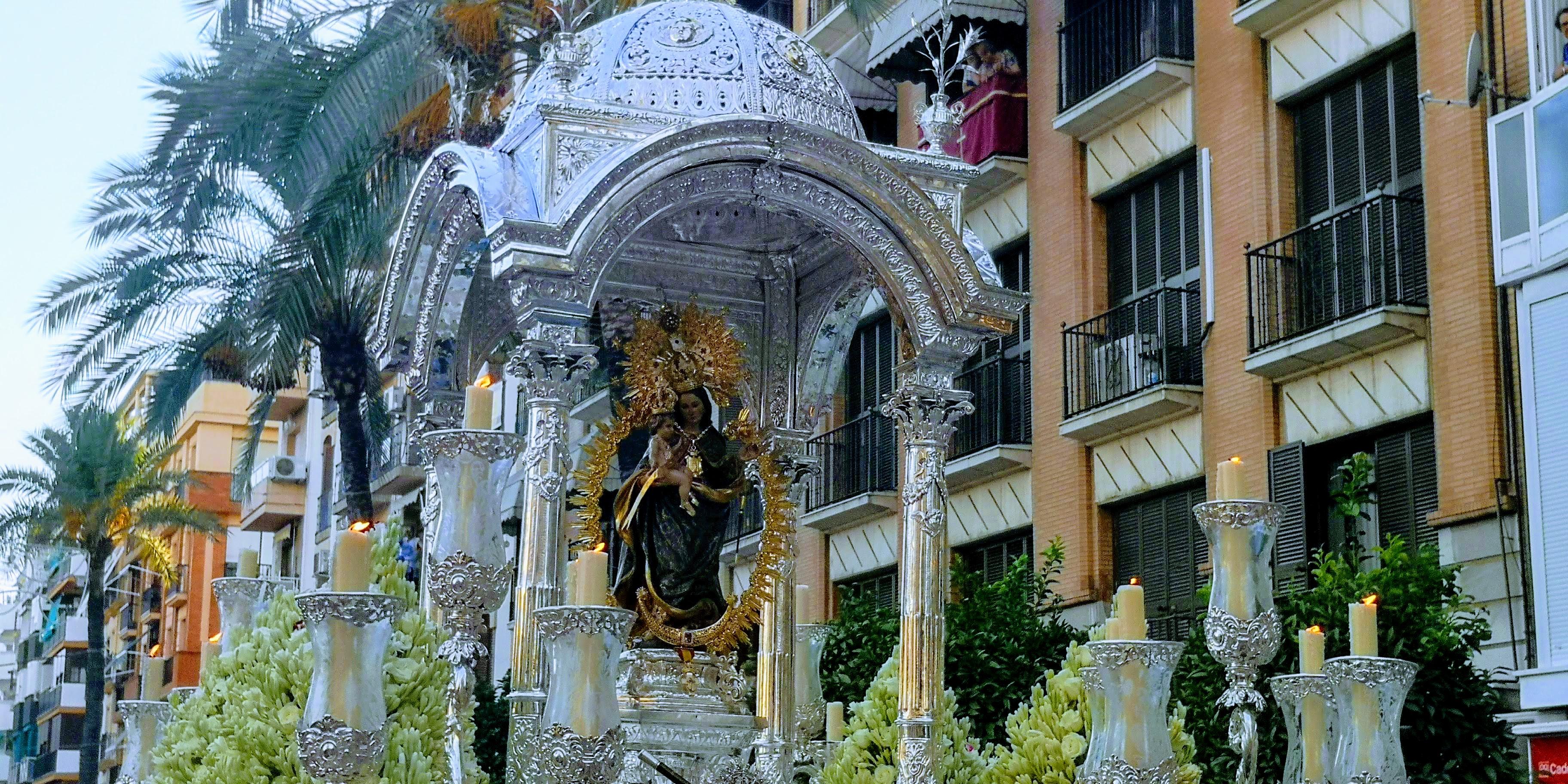Traslado popular a su Santuario. Virgen de la Cinta 08-09-2019