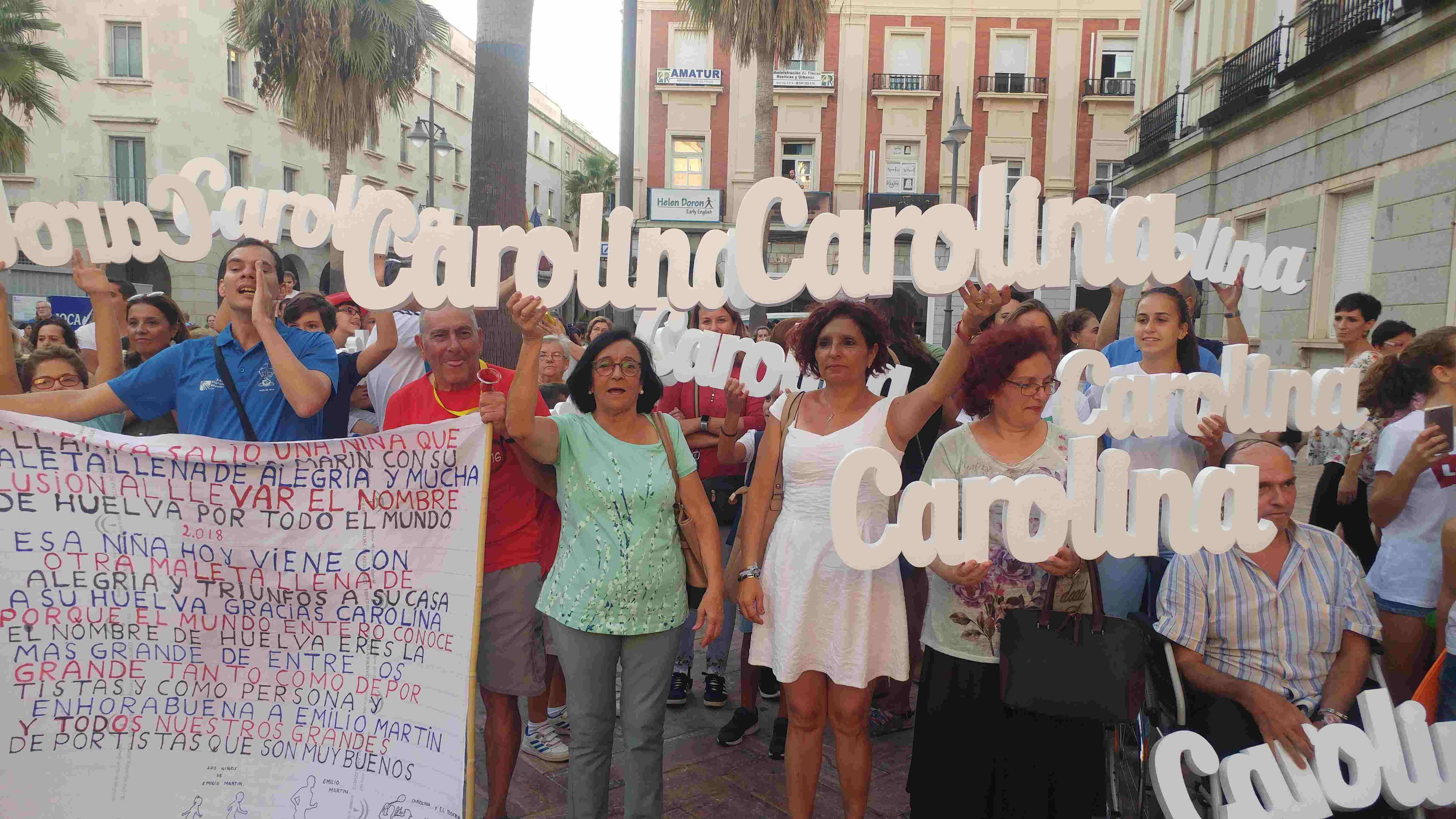 Homenaje a Carolina Marín Ciudad de Huelva 05-10-2018