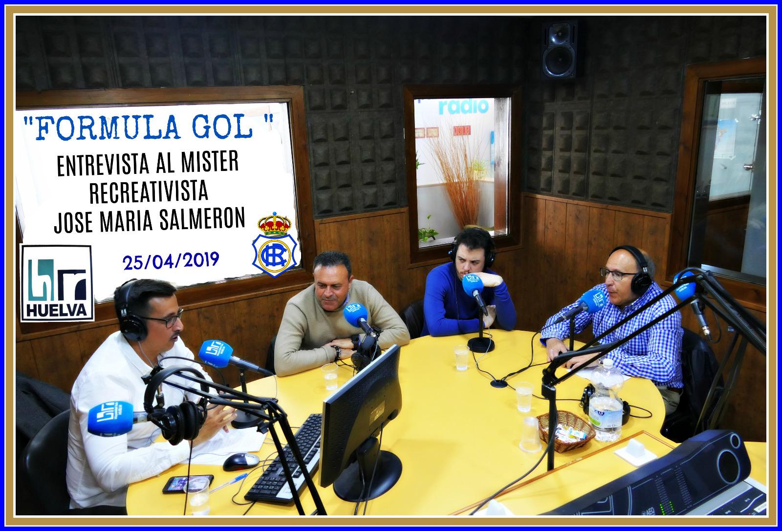 Fórmula Gol-25-04-2019 José María Salmerón entrenador del Recreativo de Huelva